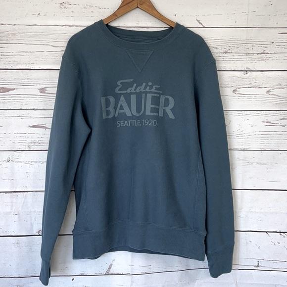 EDDIE BAUER Vintage Logo Sweatshirt Size Large